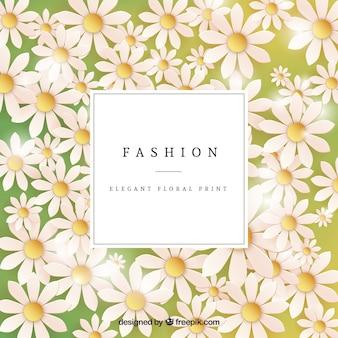 Élégant floral carte imprimée