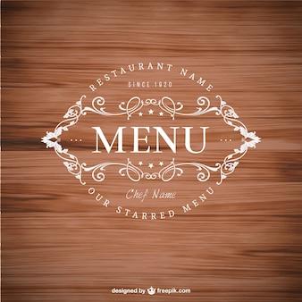 Elégant insigne de menu