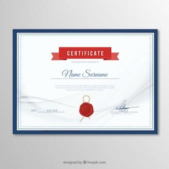 Élégant modèle de certificat