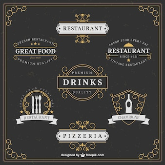 Élégant restaurant logos
