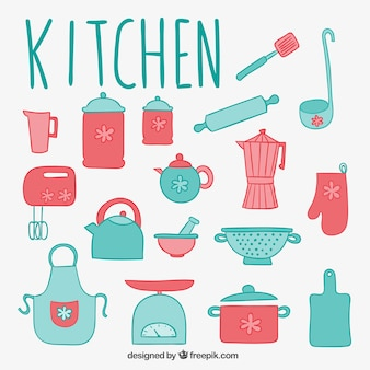 Éléments de cuisine mignon