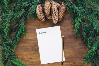 Éléments de Noël avec note
