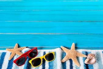 éléments de plage colorés