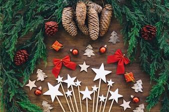 Éléments étoiles de Noël