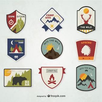 Emblèmes de camping mis