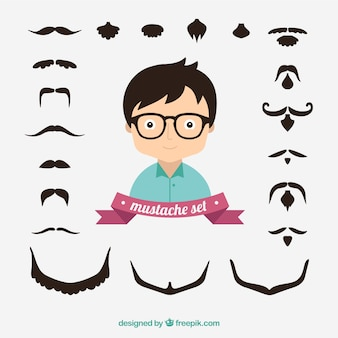 ensemble de la moustache