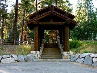 escalier dans le parc national Sequoia