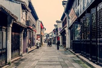 Escaliers murs structure culture ruisseaux chinois