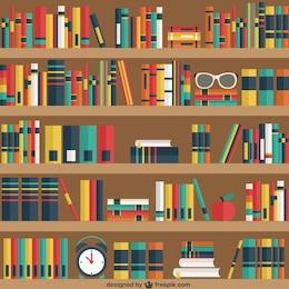 Étagères avec des livres