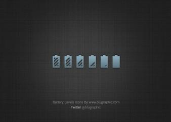 état de niveaux icônes de la batterie