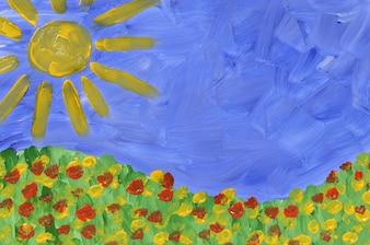 Été peinture prairie