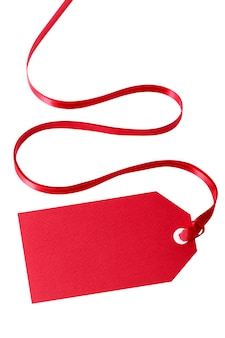 étiquette de cadeau rouge