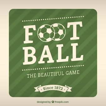 étiquette de Football