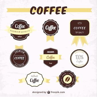 étiquettes de café emballer