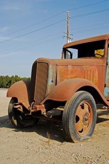Extrémité avant de la vieille Chevrolet à sh antique