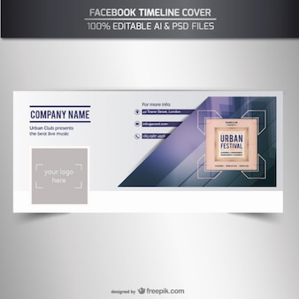 Facebook couverture de chronologie vecteur