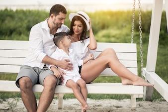 Famille à la plage