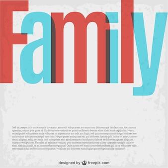 Vecteur de famille modèle de lettrage