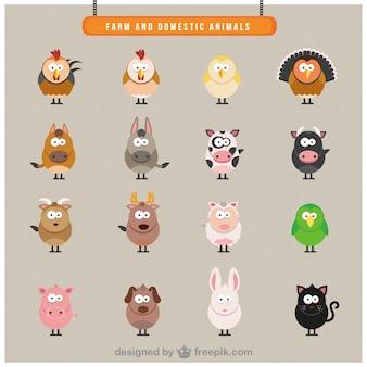 Ferme les animaux domestiques icônes