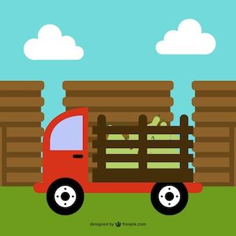 Bande dessinée de camion de ferme