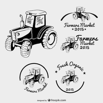 Agriculteurs logos du marché paquet