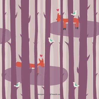 Faune forestière illustration vectorielle