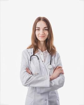 Femme en uniforme médical