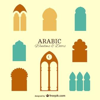 Fenêtres et les portes arabes