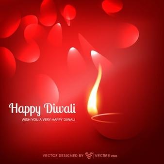 Festival indien de Diwali carte de voeux