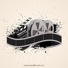 film de fond de film dans le style abstrait
