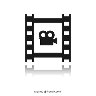 bande de film avec l'icône