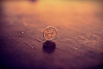 Financière penny pièces de monnaie en métal argent monnaie