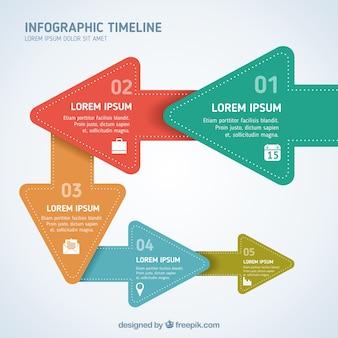 flèches de papier infographie