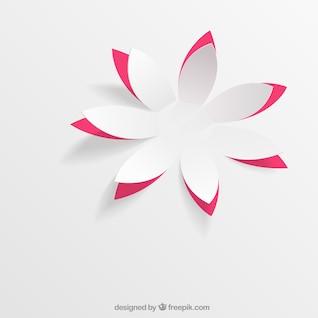 fleur de papier dans le style pop-up