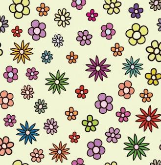 fleur paquet floral vecteur de fond
