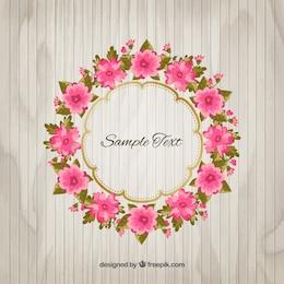 Fleurs roses cadre