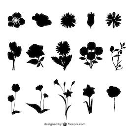 Fleurs silhouettes gratuits