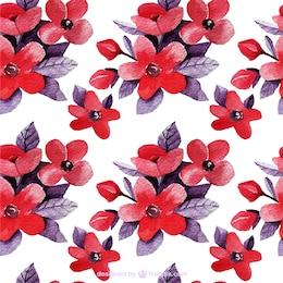 Floral background dans les tons rouge et violet