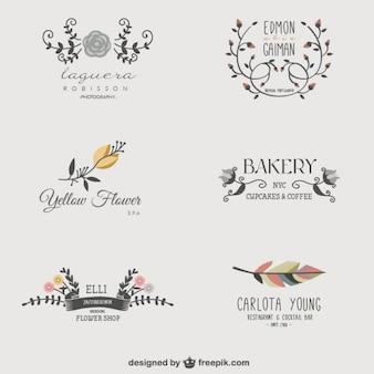 Des logos d'entreprise florales