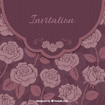 Floral carte d'invitation