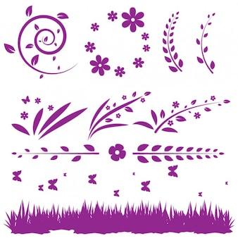 Floral pack de décoration