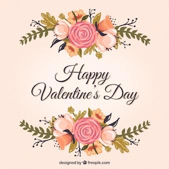 La carte de Saint-Valentin Floral