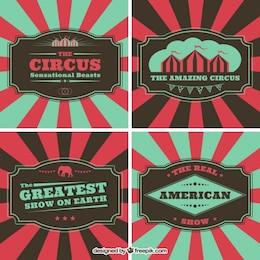 flyers de cirque dans le style vintage