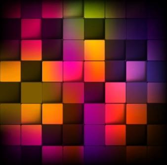 Fond abstrait avec des carrés colorés