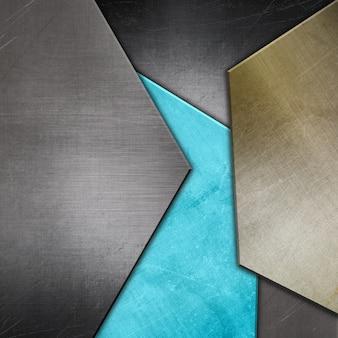 Fond abstrait avec des textures métalliques
