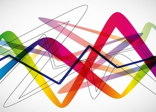 Fond abstrait avec des vagues colorées.