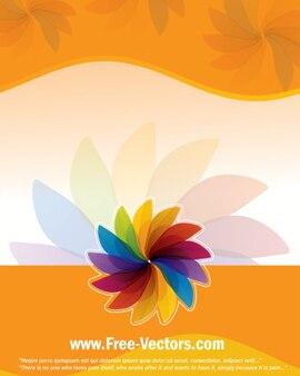 Fond coloré simple modèle de fleur