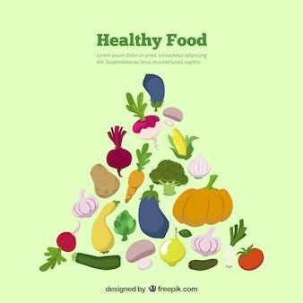 Fond de la nourriture saine