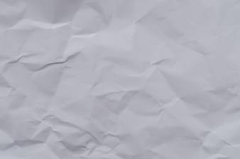 Fond et texture de papier froissé blanc, froissé papier froissé blanc abstrait