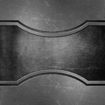 Fond métallique abstrait avec des rayures